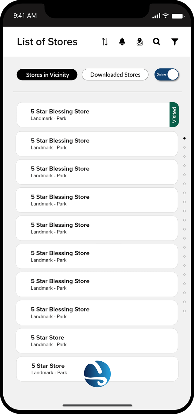 Salesflo Sight List of Stores