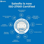 Salesflo is now ISO-27001 Certified